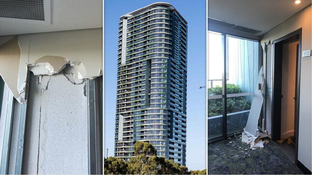 cracks in Sydney apartment buildings