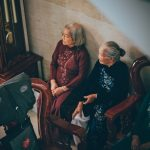 Three old woman waiting