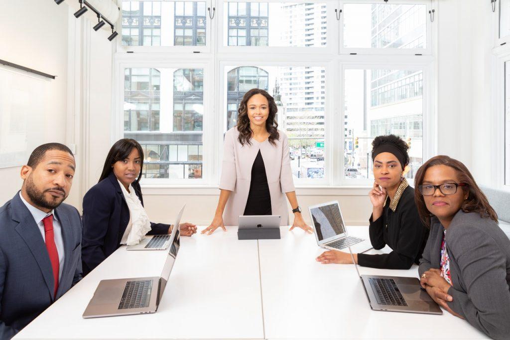 Woman developing leadership skills